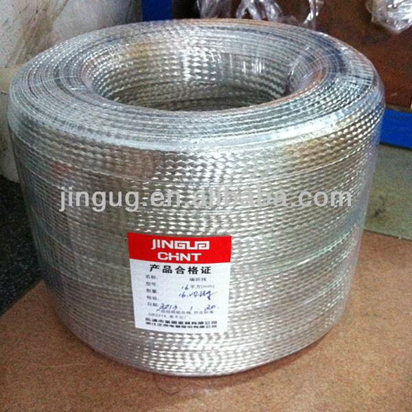 JINGU 20 Year's production, CE Certificate, win the tender export high quality flat braided copper wire