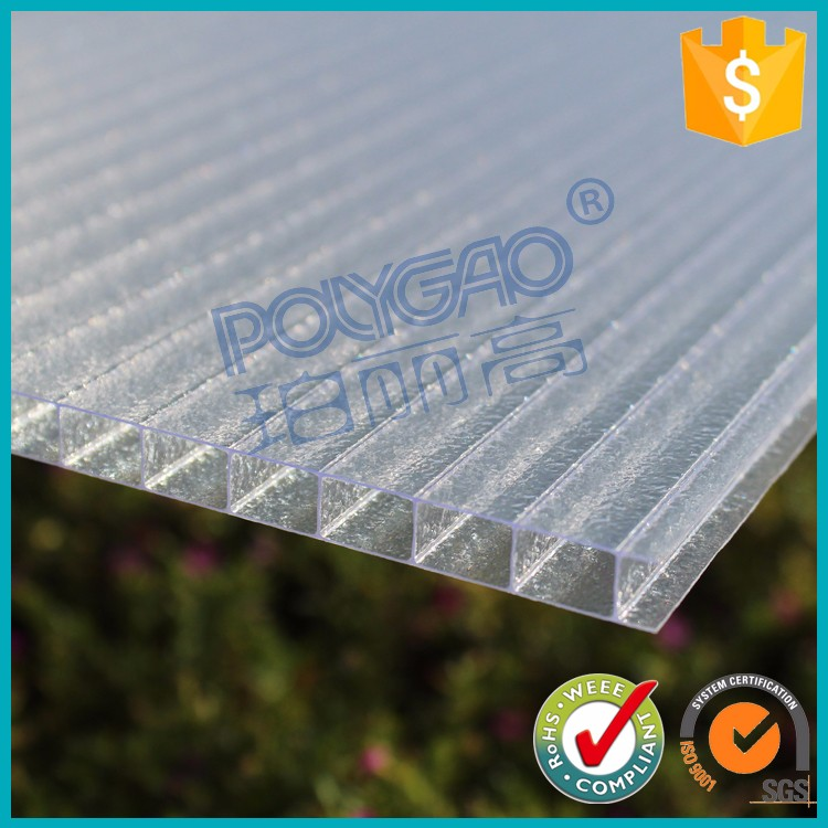pc polycarbonate frosted hollow sunlight sheet for green house
