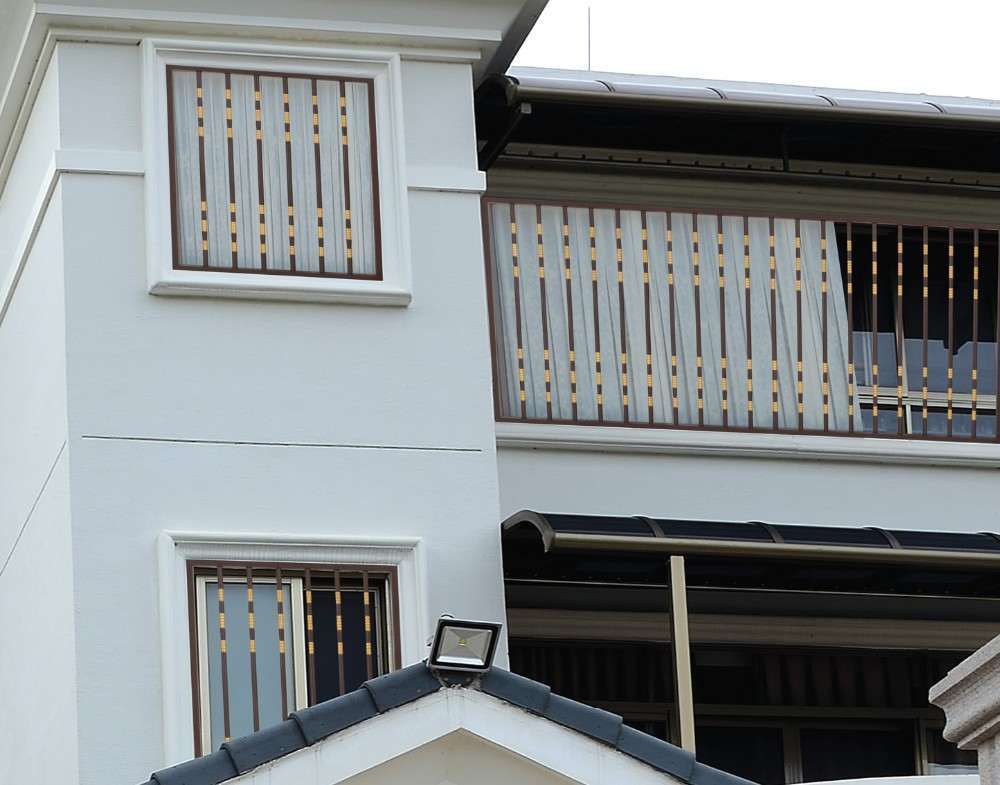 Window grill design pvc aluminum windows design for for Terrace tubular design