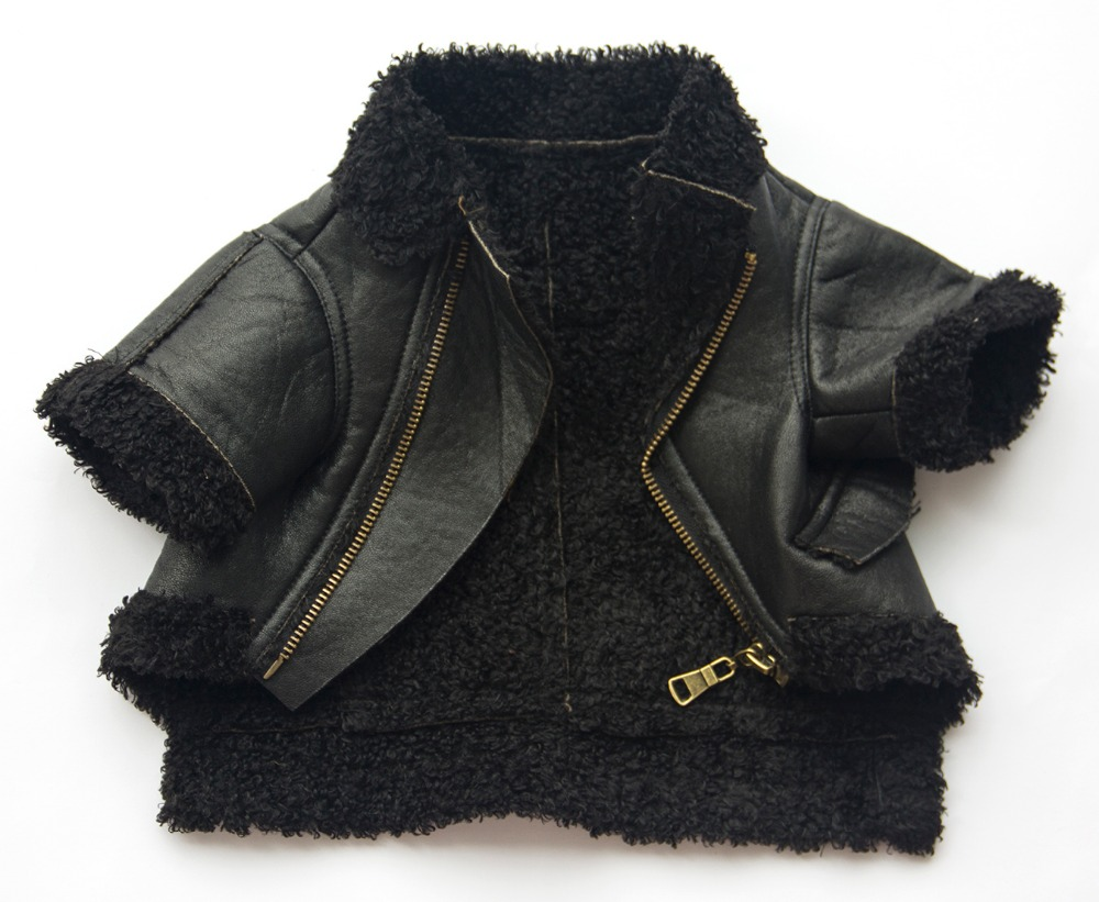 Berber Fleece recombination Suede fabric dog winter clothes pet apparel