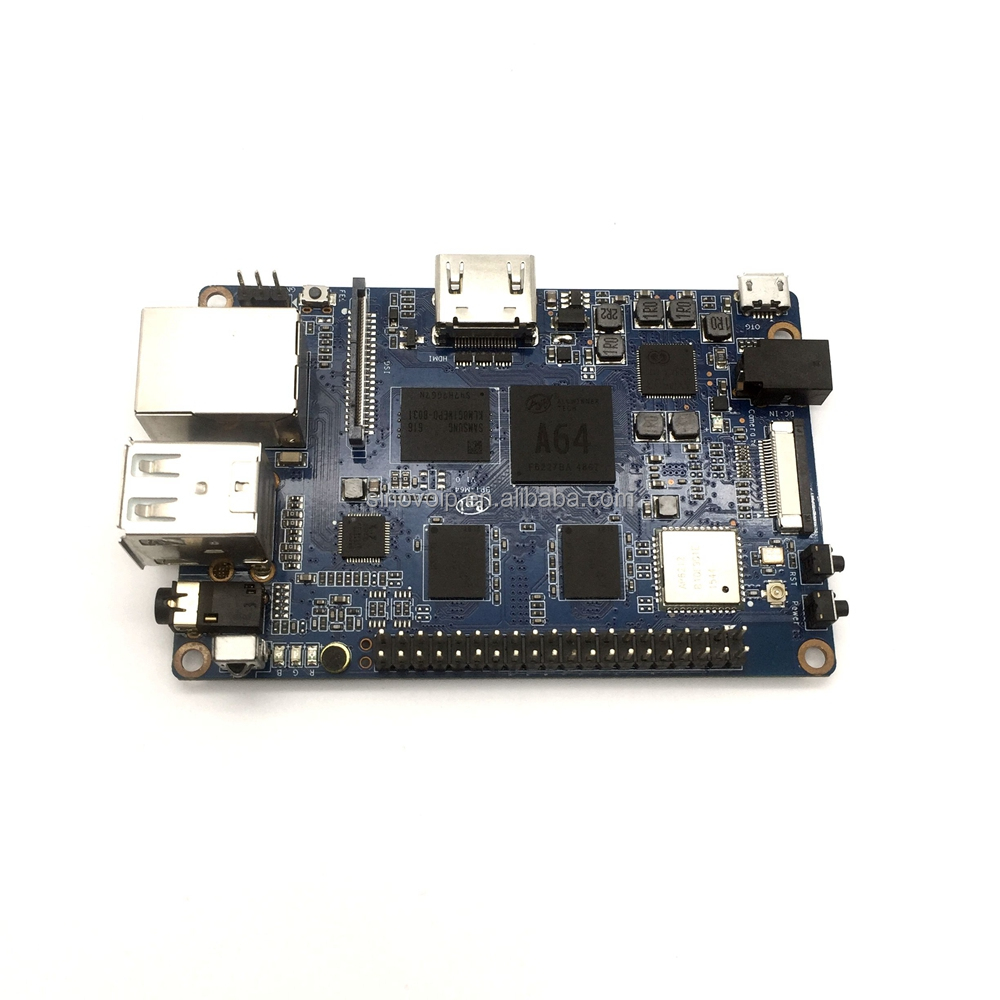 Banana Pi M64, Quad core, A64, 2GB RAM, BPI Open source development board module powerful than Raspberry Pi