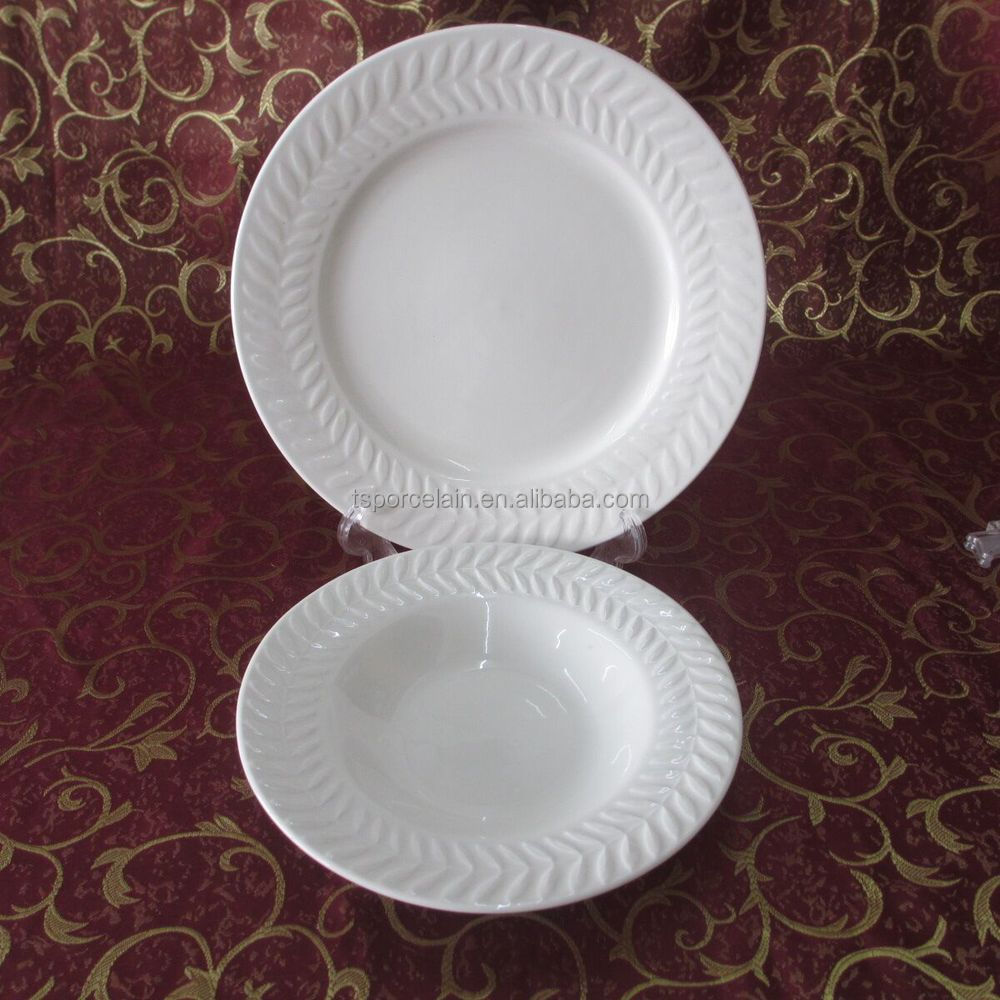 China supplier healthy food cheap white porcelain dinner plate