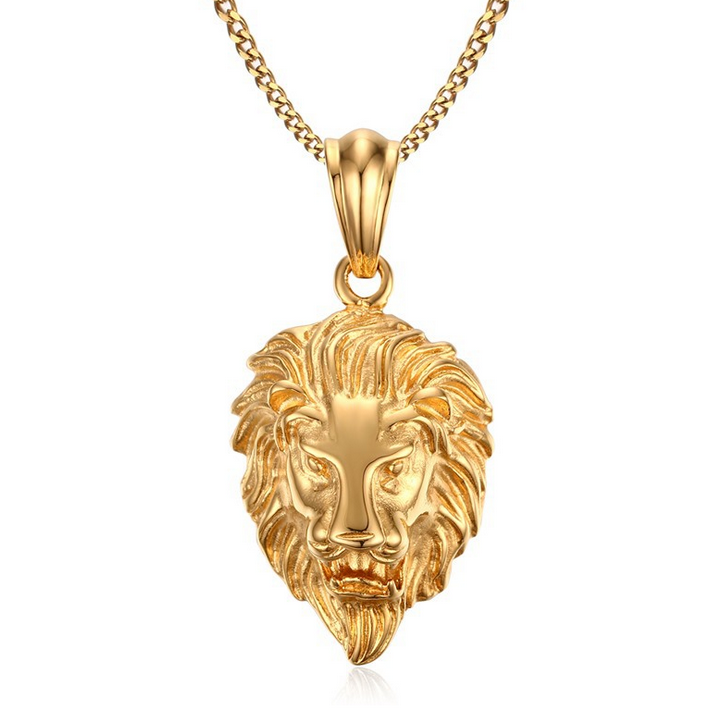 Costume Jewelry New Gold Design Lion Head Pendant For Men - Buy ...