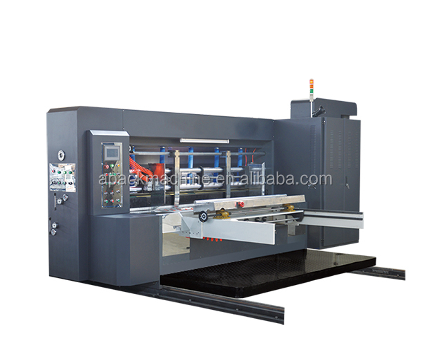 GYK-1 full automatic 4 color Flexo Printer Slotter Die Cutting Machine
