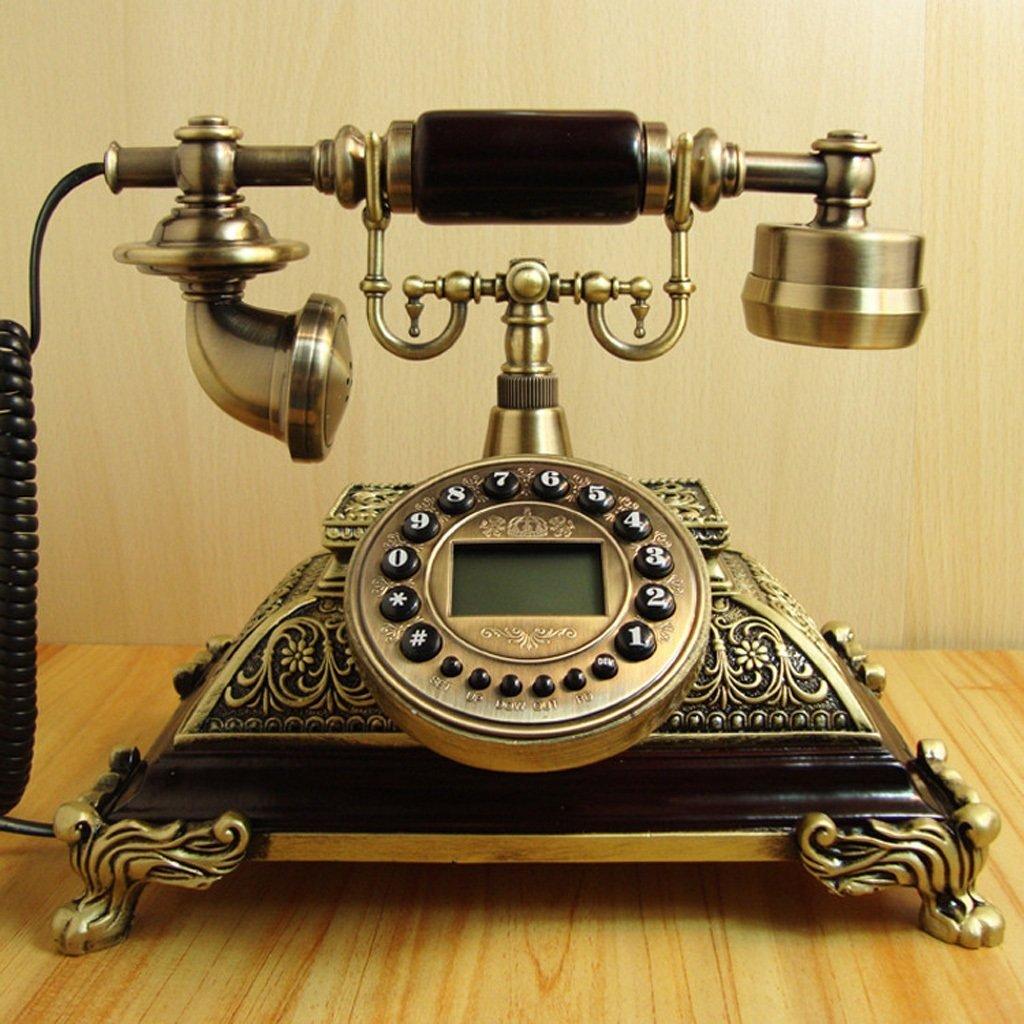 Telephone Solid wood landline European-style telephone Antique telephone Classical vintage landline Home Imperial throne Solid wood phone ( Color : Hands-free version )