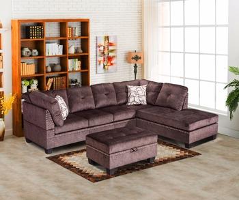 American Latest Corner Sofa Design/fabric Sofa Living Room ...