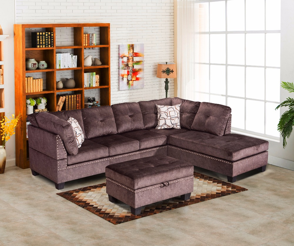 American Latest Corner Sofa Design Fabric Sofa Living Room Household