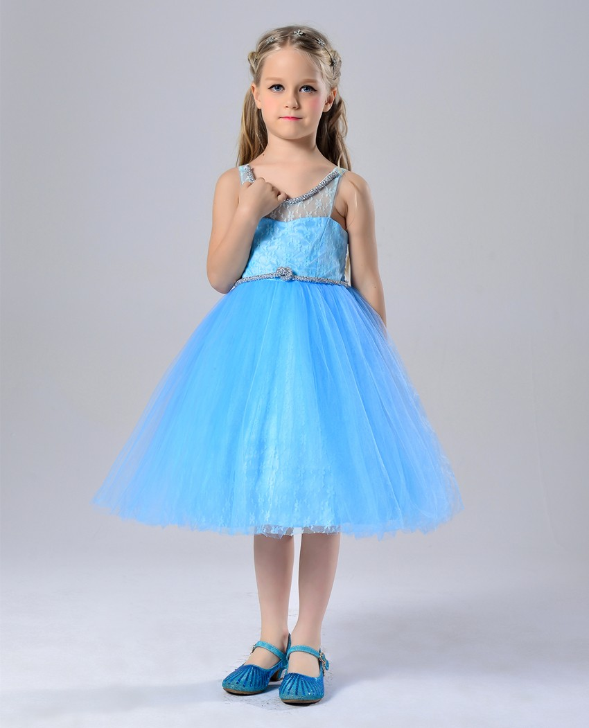 2016 New Model Frock Design Girls Free Prom Dress For Princess Party ...