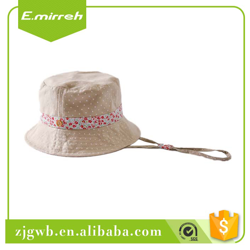 Best selling custom white cotton bucket hat strapping