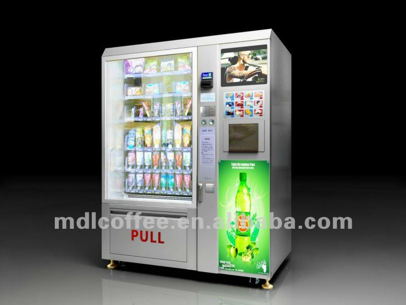 Shopping Mall Vending Machine With Lcd Ad. Display