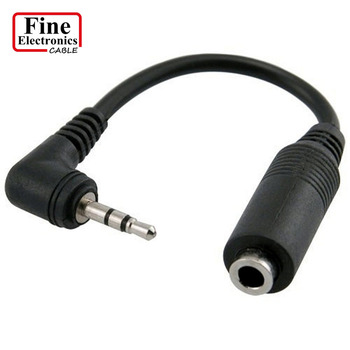 2 5mm Male Plug To 3 5mm Female Jack Stereo Aux Audio Trs Adapter