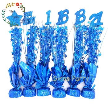 SINNO Blue Weighted Centerpieces, 21st Birthday Decorations For Male
