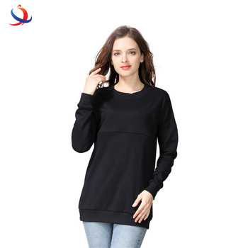 ca5dd3fdda0f8 Moms winter Maternity Sweater Nursing Tops Long Sleeve Hoodies  Breastfeeding Tops For Pregnant Women Maternity T