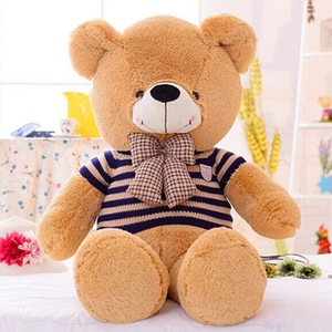 cute soft plush stuffed toy sweater bowknot teddy bear