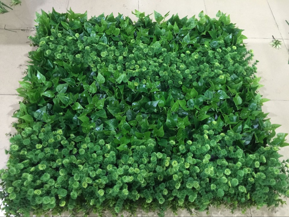 Large Fabric Fake Plant Fiber Wall Panel For Balcony