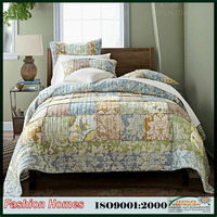 India style patchwork bedding set quilts with rufflle