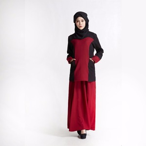Autumn and winter new Muslim sweet colored pocket embroidered long abaya