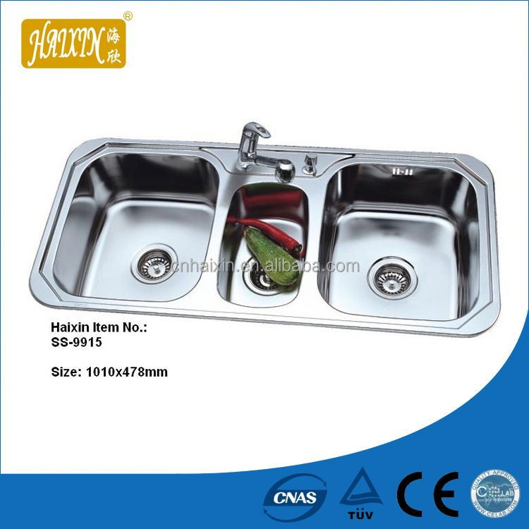 2014 Modern Style Stainless Steel Double Bowl Square Kitchen Sink
