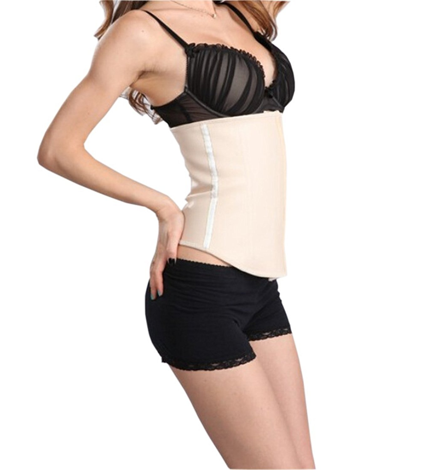 cd5e7ea503a Get Quotations · Modotop Women s Sexy Black Working Clothes Shapewear Basque  Corset Top Bustier Mini Skirt Dress