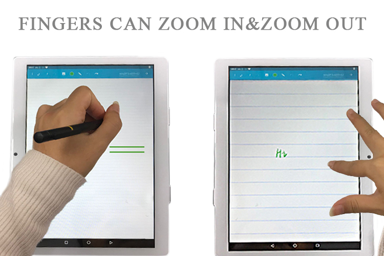 2.5D glass screen android education tab for students take notes handwriting tablet pc with stylus pen