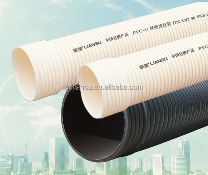 Hdpe double wall pipe large diameter corrugated