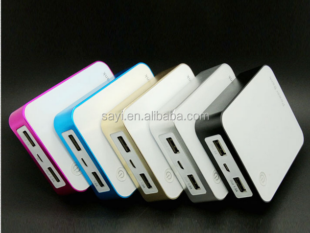 Asia gold supplier mobile phone externale portable charger 5400mah 6600mah 7800mah square discreen digital display power bank