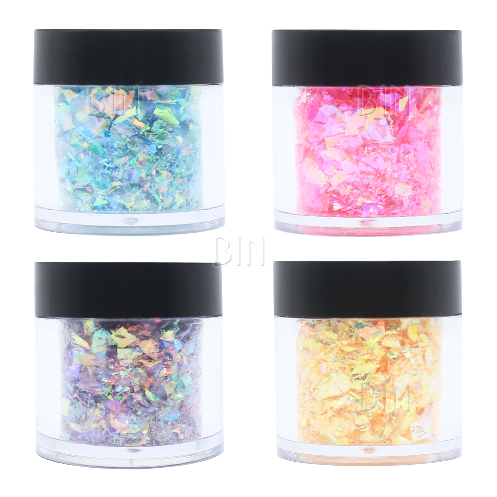 BIN Shell Flakes <strong>Glitter</strong> <strong>Nail</strong> Acrylic Material <strong>Powder</strong> On Sale