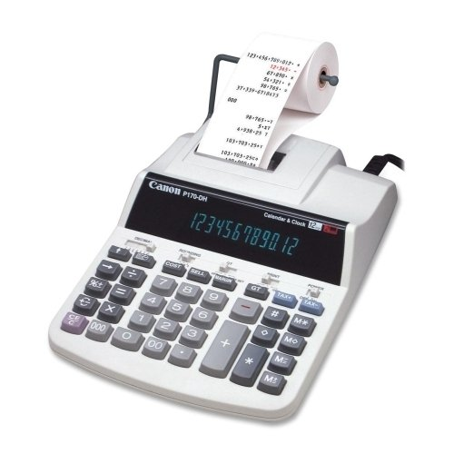 "Canon 12-Digit Calc.,2-Color Print,7-23/32""9X49/64""X""2-37/64"",Gy *** Product Description: Canon 12-Digit Calc.,2-Color Print,7-23/32""9X49/64""X""2-37/64"",Gythe 12-Digit P170-Dh Calculator Incorporates Two-Color, High-Speed Printing, And A Non-Add P ***"