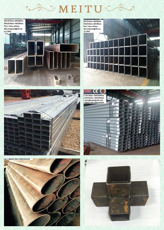 Black and galvanized steel tube round squre rectangular