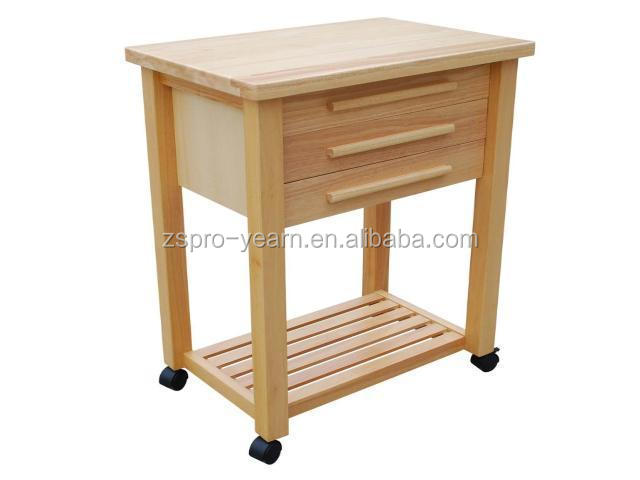 Modern design wooden kitchen serving trolley service cart for Kitchen trolley design