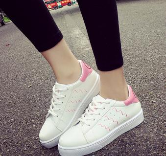 The new style korean assorted colors platform shoes vivacious lace up women casual shoes