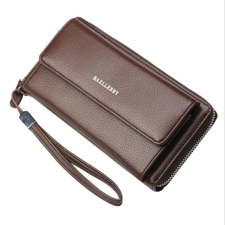 Great quality baellery brand Multifunction Long style Mens clutch leather <strong>wallet</strong> purse men's <strong>wallet</strong> designer 2018