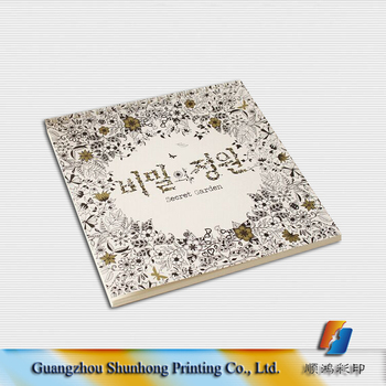 China Factory Manufacture Secret Garden Adult Coloring Book Customized Adults Drawing Printing