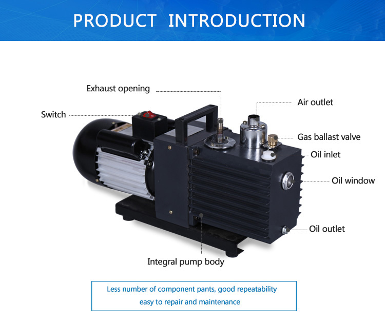New Production Dry Vacuum Pump Dry Rotary Vane Vacuum Pump