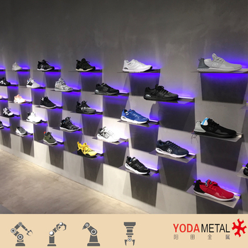 Floating Shelf Wall Mounted Retail Store Shoes Wall Display Systems Enchanting How To Arrange Floating Shelves On A Wall