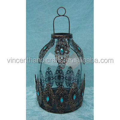 Gifts & decor antique brass moroccan candle holder hanging lantern
