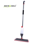 Multi-function home cleaning tools microfiber water spray mop with water bottle PP cleaning floor mop
