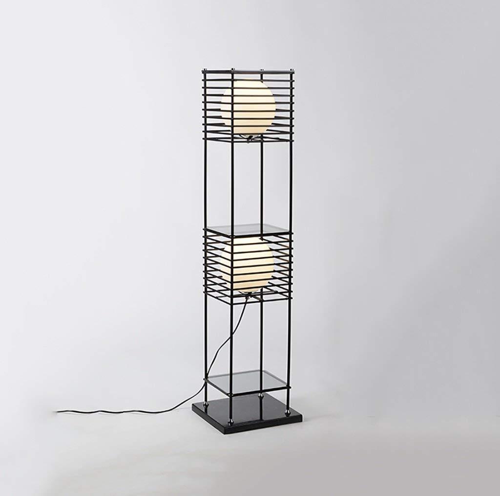QYJZI Floor Lamps Floor lamp, living room iron black bookcase floor lamp, sofa shelf floor lamp bedroom living room floor lamp size: 28136cm