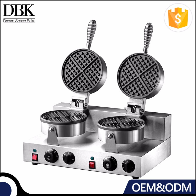 DBK commercial cast iron waffle non stick wafer maker fish waffle making machine