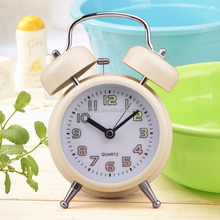 OXGIFT Made in China Alibaba wholesale Manufacture 4.6 inch Mute Retro Desk Luminous Twin Bell metal alarm clock