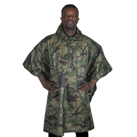 Tactical Outdoor Waterproof Poncho Military Hiking Poncho Raincoat