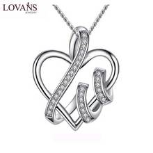 Wholesale 925 Sterling Necklace Heart shape Love Pendant Necklace Women Silver Jewelry