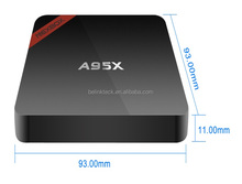 Original A95X factory sell Smart Android TV Box Amlogic S905 Android 5.1 kodi fully loaded