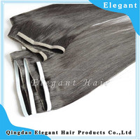 PU skin weft Grade 6A indian remy hair weft seamless good quality