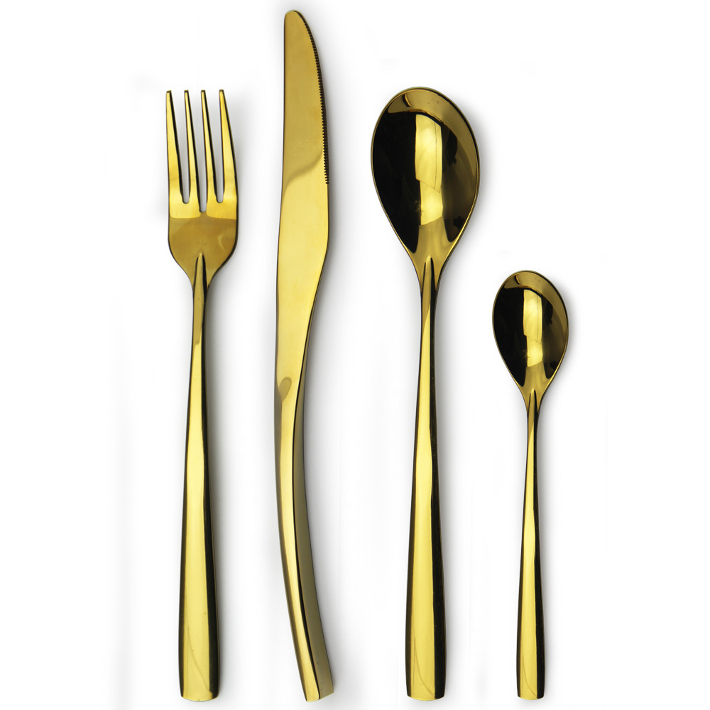 stainless steel matte finish rose gold cutlery buy