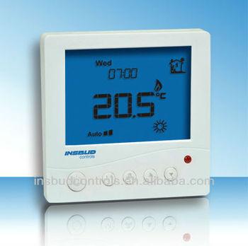Radiant floor heat thermostat for underfloor heating for Electric radiant heat thermostat