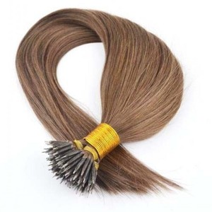 Fashion Beauty Brazilian Remy Human Hair Extension Best Selling Smoothly Straight Nanos Ring Hair