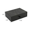 black logo printed drawer box packaging boxes clothing