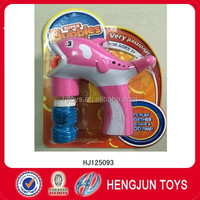 plastic cartoon Friction dolphin bubble gun toys with A bottle of bubble water