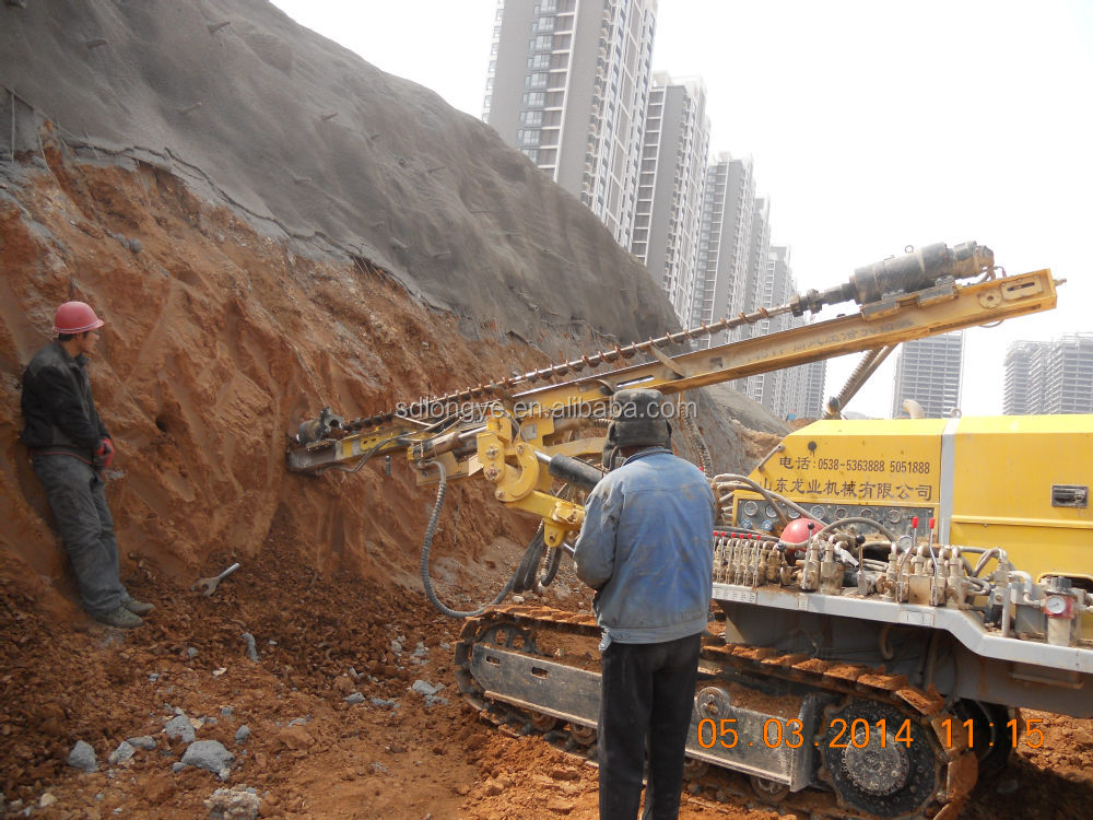 60m automatic crawler full-hydro-driller G140YF with CE&ISO certification
